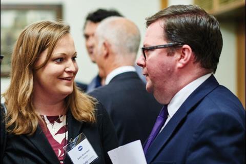 Sarah Richardson, Editor, Building; Conor McGinn MP